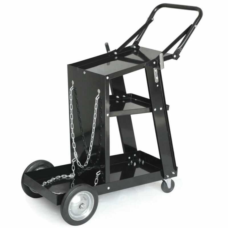 HOT NEW Professional Welding Cart Plasma Cutting Machine without Drawer Black