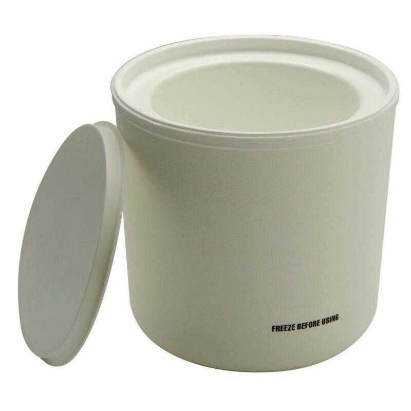 Carlisle Coldmaster 2 qt White Polypropylene Coldcrock with Coaster