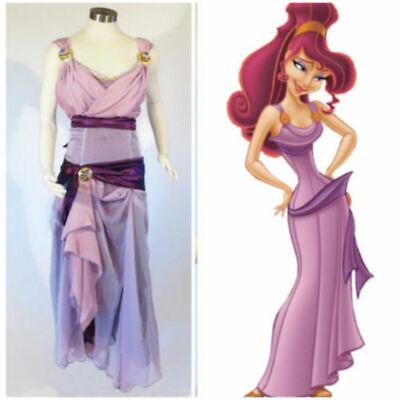 Disney Megara Princess Hercules Wife Meg adult princess dress Cosplay - Megara Costume Halloween