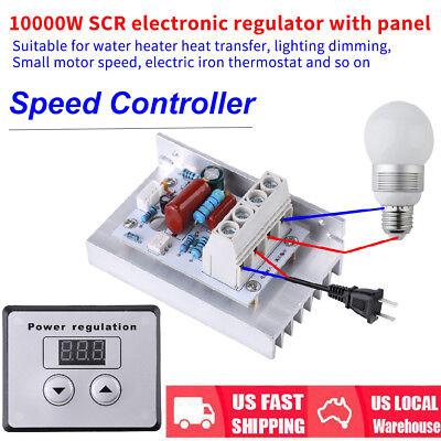 10000w Ac 220v Scr Digital Voltage Regulator Speed Control Dimmer Thermostat New