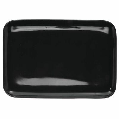 - Serving Tray Display Tray Low Profile Black Melamine Plastic - 9 3/4 L x 6 3/4 W