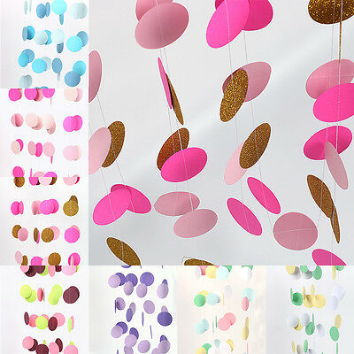 5PCS Paper Garland String Bunting Circle Wedding Party Baby Shower Hanging Decor