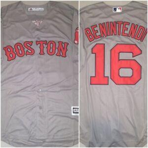 Andrew Benintendi Boston Red Sox #16 Grey Replica Mens Size LRG Baseball Jersey