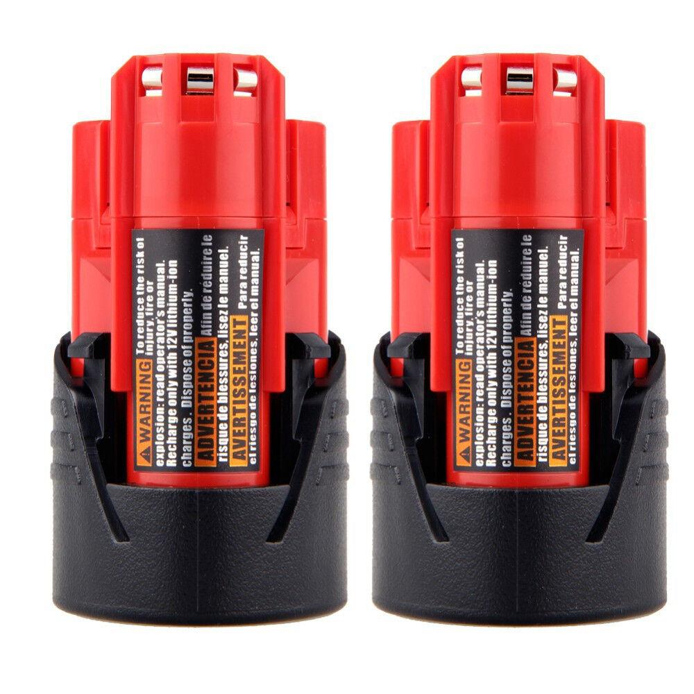 2X 12V Lithium Battery For Milwaukee 48-11-2401 M12 Fuel Imp