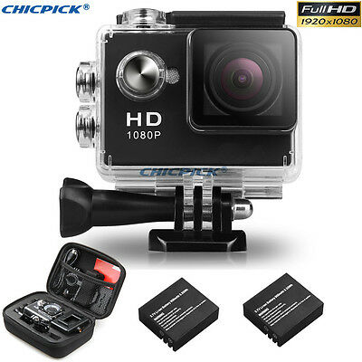 2.0'' SJ4000 Waterproof Full HD 1080P DV Helmet Action Sports Camera Travel Kit