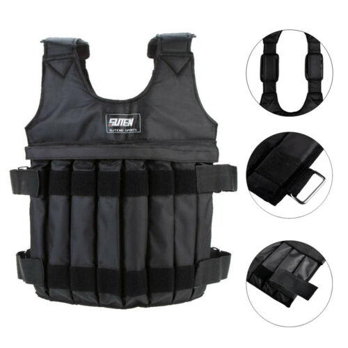 Adjustable Weight Vest 44LB 110LB Weighted Workout Exercise