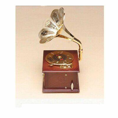 Gramophone Jewelry Music Box (white)
