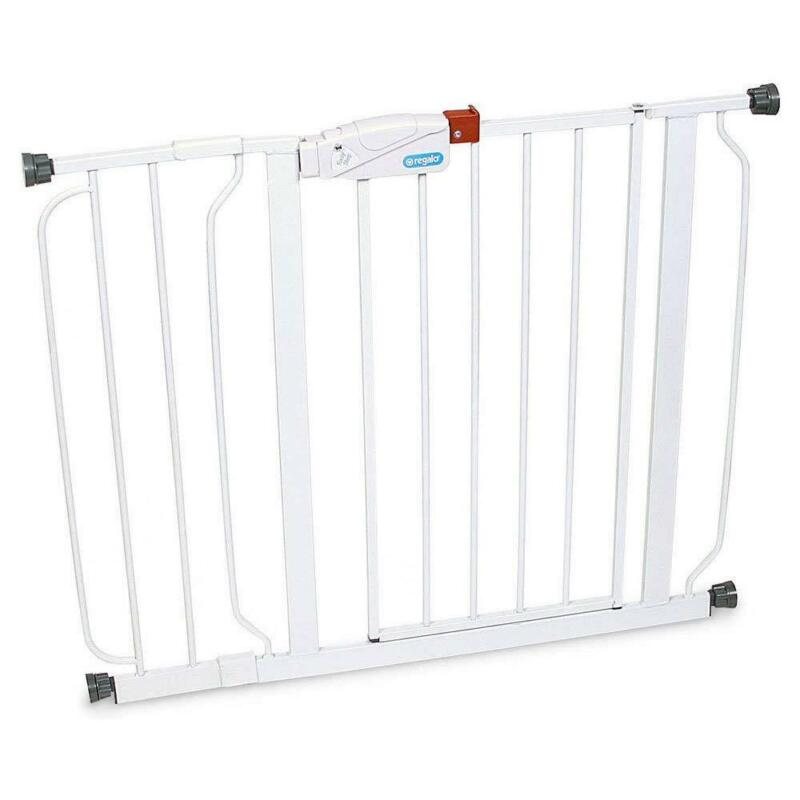 """Regalo Easy-Step Metal Swing Gate, White, Fits 29""""-38.5"""""""