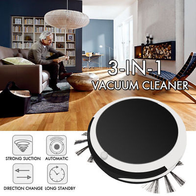 Auto Rechargeable Smart Robot Vacuum Cordless 3-in-1 Dry Wet Floor Mop Cleaner