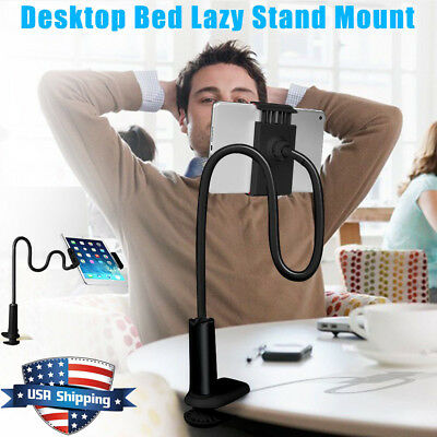 For Tablet iPad iPhone Universal 360º Lazy Bed Gooseneck Desk Mount Stand Holder
