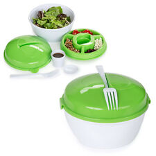 2-Pack: Diamond Home 5-Compartment Salad To-Go BPA Free Fresh Food Storage Bowl