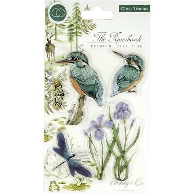 Craft Consortium A5 Clear Stamps Kingfisher Birds Iris