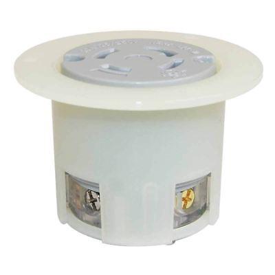 EMA L14-30R 3Pole 4W 30A 125/250V Flush Mount Twist Lock Receptacle Flange Outle
