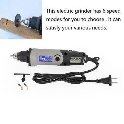 Amoladora eléctrica de 220 V, herramienta de taladro giratoria de 6 velocidades