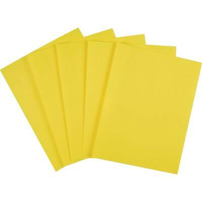 Staples Brights Colored Paper 8 12 X 11 Yellow Ream 500ream 490954