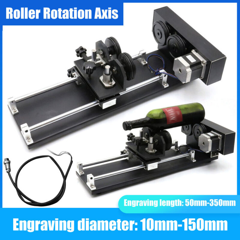 2/3-Phase Rotary CNC Attachment Roller Axis Laser Engraver Machine Rotation Axis