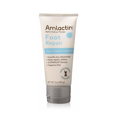 AmLactin Fragrance Free Alpha-Hydroxy Therapy Foot Repair Cream - 3 Oz Each