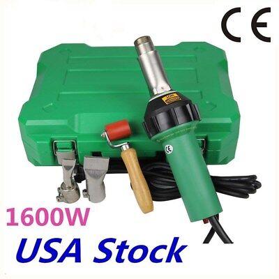 USA-Weldy 1600W Hot Air Welding Gun Kit Pistol Plastic Welder Heat Gun Torch CE