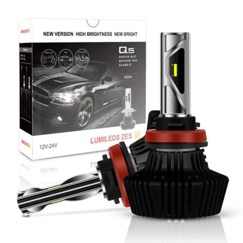 H11 LED Headlight Kit 1900W 285000LM Low Beam Bulbs 6500K Replace HID Fog H8 H9