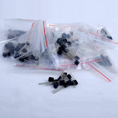 170pcs 17-value Bipolar Transistor To-92 Npn Pnp Assortment Kit Set Tw
