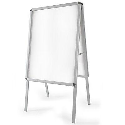 A1 Panel Publicitario Expositor Doble Cara 120cm y 2 láminas transparentes Gris