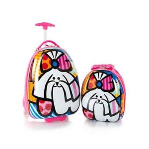 Heys Britto for Kids 2pc- 18 inch Luggage and 15 inch Backpack Set - Pink Dog