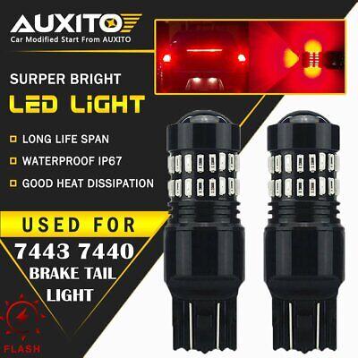 7443 LED Strobe Flashing Blinking Brake Tail Light/Parking Safety Warning Bulbs