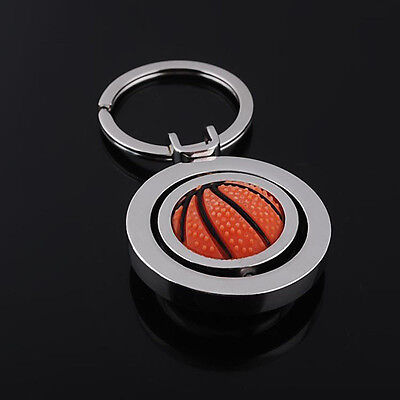 Sale Keychain Rotating Basketball Sports Fob Ball Key Chain Key Ring