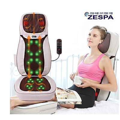 ZESPA Portable Powerful Shiatsu Massage Cushion Body Rolling
