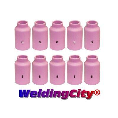 Weldingcity 10-pk Gas Lens Ceramic Cup 54n14 8 Tig Welding Torch 171826 Usa