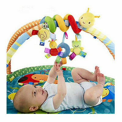 Baby Newborn Infant Hanging Rattles Around The Bed Stroller Revolves Crib Toy US
