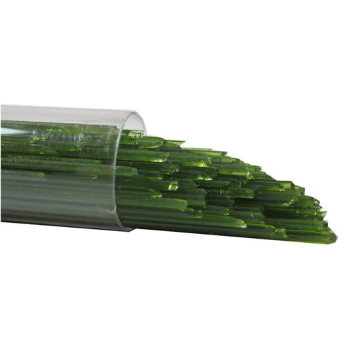 Oceanside Glass Stringers - 96 COE - Forest Green Semi-Opal #S-622-96