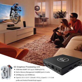 T6 2GB+16GB S905X Quad Core Android 7.1 4K WiFi Smart TV Box Media