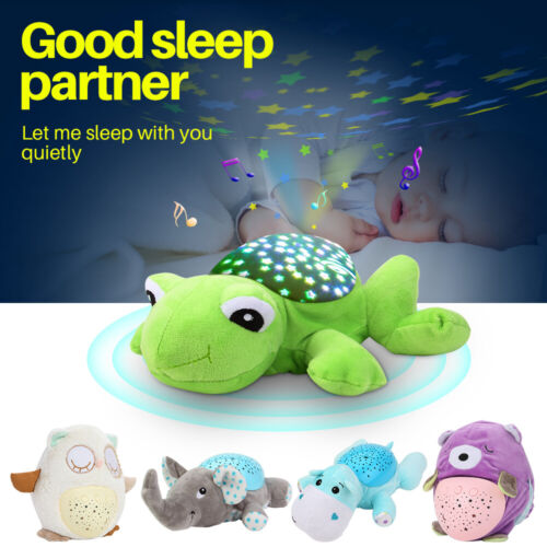Animal Night Light Star Sky Projection Lamp Musical LED Baby