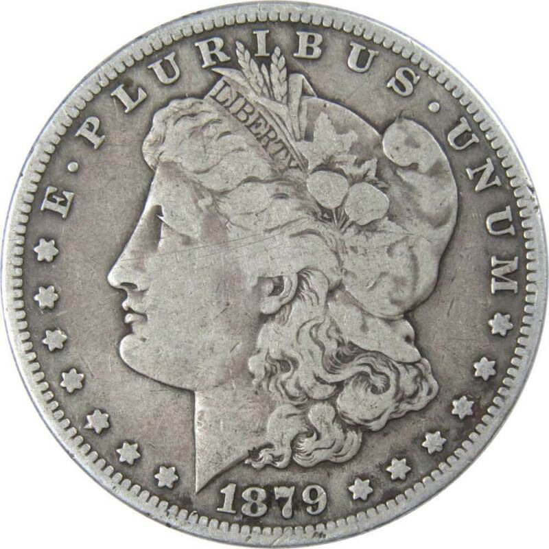 1879 S Rev of 1879 (3rd Rev) $1 Morgan Silver Dollar US Coin VG Very Good