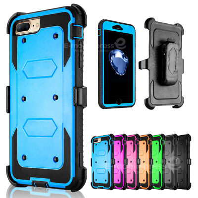 - Shockproof Heavy Duty Belt Clip Holster Case Cover for Apple iPhone 8 / 7 Plus