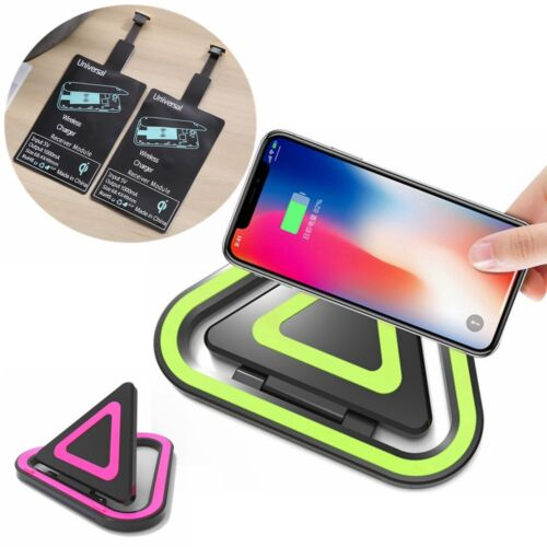 Wireless Fast Qi Charger Pad Mat Charging Receiver for iOS A