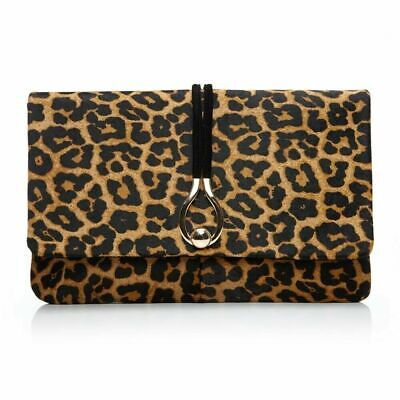Moda in Pelle Clutch Bag, Leopard, BNWT