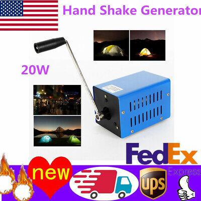 Portable High Power Dynamo Charger Emergency Hand Crank Usb Generator Us Stock