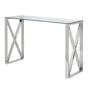 CONSOLE TABLE SILVER - CHROME SHADE (BD-835)