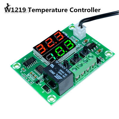 Digital Dc12v Dual Led Temperature Controller Thermometer Relay Module Cable