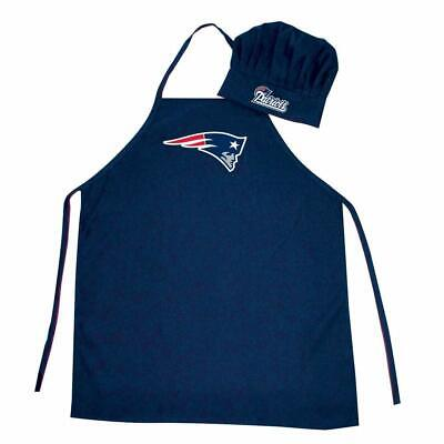 USA 2 Pack for New England Patriots Chef Apron Set. Chef Hat and Kitchen Apron