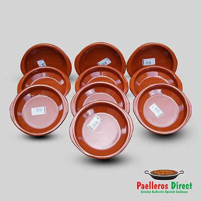 Set of 10 x 16cm Spanish Terracotta Tapas Dishes / Cazuelas