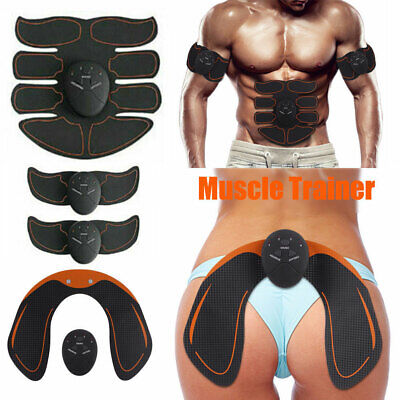 8PC Electric Muscle Toner EMS Simulator Wireless Toning Belt ABS Butt Trainer, used for sale  USA