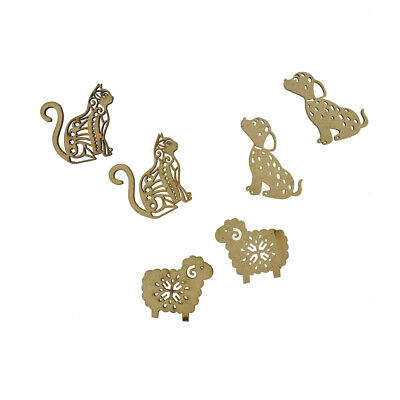Animal Pals Laser-Cut Ornate Wood Shapes, Natural, 6-Count](Animal Shapes)
