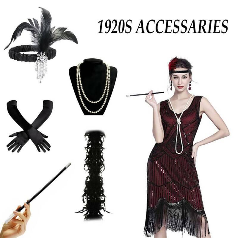 Ladies BLACK Flapper Peaky Blinders 20/'s Ada Shelby Fancy Dress Accessories