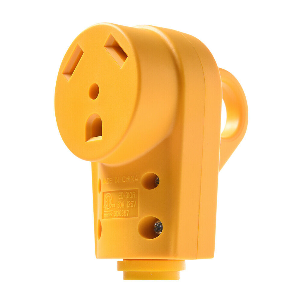 Details About Rv Caravan 30 Amp Electrical Cord Female Replacement Plug Grip
