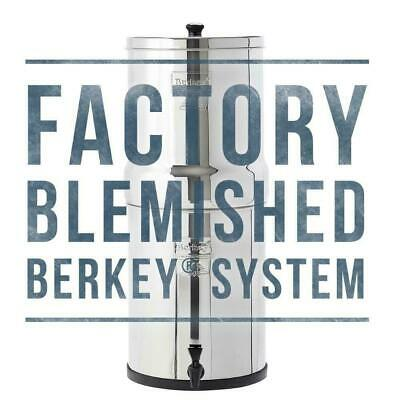Factory Blemished Big Berkey Water Filter w/ 2 Black Filters Free Shipping NEW
