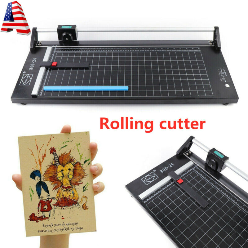 "24"" Manual Precision Rotary Paper Trimmer Sharp Photo Paper Cutter US STOCK"