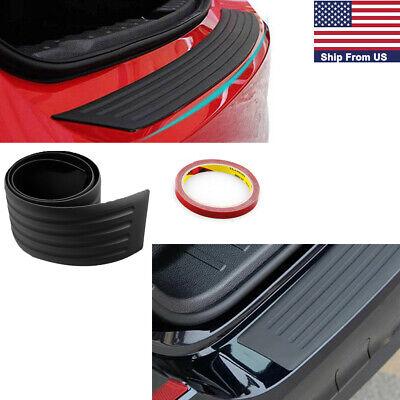 Universal Car Rear Bumper Sill Protector Plate Rubber Cover Guard Door Boot Trim segunda mano  Embacar hacia Argentina